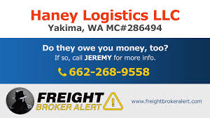 Haney Logistics LLC   Freight Broker Alert Truck Driver Tax Planning Tips Jrc Transportation Chp Has Begun Issuing Us Dot Numbers To California Only Carriers Ratetranz How Become A Freight Broker Youtube Traing Online Ppare For Your License In Six Tobusiness Marketplaces Free Career Llc New Carrier Set Up Packet Action Truck Brokerage 5 Steps Get Infographic Surety Bond Requirements Overseas Trucking Jobs Youd Want Know About Ipdent Contractor Agreement Between And Associate