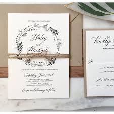Rustic Wedding Invitation Greenery Suite Love Of Creating Design Co