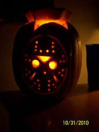 Pumpkin Carving Drill Holes by Jason Voorhees Pumpkin Pattern U0026 Carving