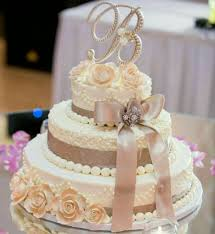 Wedding Cake Topper Letter B Ivory Rose Weddings Rustic Pearl
