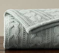 Cable Knit Throw Pottery Barn by 30 Best Knitted Throws Images On Pinterest Knitted Throws Cable