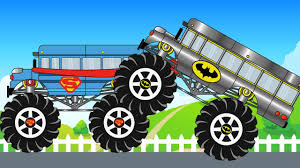 100 Monster Truck Batman Armored School Bus Monster Truck Vs Superman School Bus