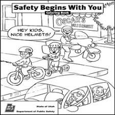 Impressive Ideas Safety Coloring Pages Bike Colouring Page