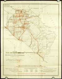 Board Of Supervisors Map County Showing Particularly The Paved Highways Orange California State Driving