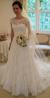 Elegant Modest Lace Wedding Dresses Naf