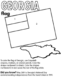 Georgia Nation Coloring Page