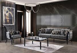casa padrino luxus barock wohnzimmer set grau schwarz gold 2 sofas 2 sessel 1 couchtisch mit glasplatte in marmoroptik wohnzimmer möbel im