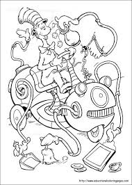 Coloring Pages Cat And The Hat About For Kids
