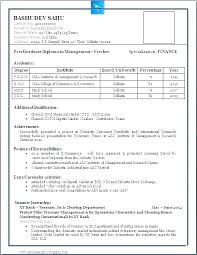 Sample Resume Computer Science Engineering Fresher Feat For Freshers Best Format