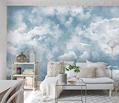 fototapete 3d effekt weiße wolken tapete modern vlies
