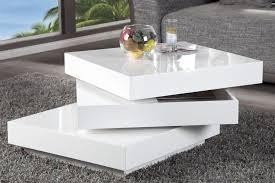 table basse laqué blanc et bois design en image