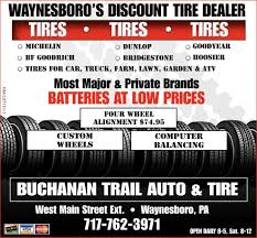 Waynesboro's Discount Tire Dealer, Buchanan Trail Auto & Tire ...