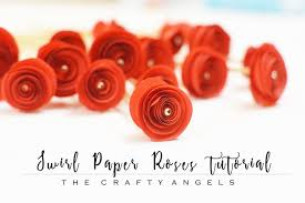 Swirl Paper Roses Tutorial Quilled Curled How To