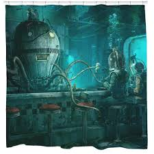 Octopus Diner Shower Curtain – Sharp Shirter