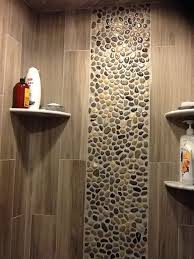 vertical accent tile in shower ideas