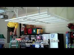 overhead garage storage racks overhead storage racks tam youtube