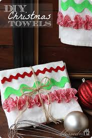 DIY Christmas Kitchen Towels