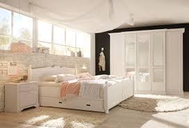 schlafzimmer kiefer massiv weiß set 4 tlg