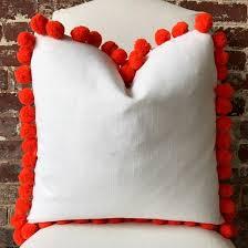Orange Pom Pom Pillow – Martha and Ash