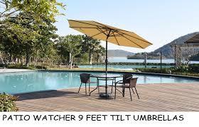 Sunbrella Patio Umbrellas Amazon by Amazon Com Patio Watcher 9 Ft Aluminum Patio Umbrella With Push