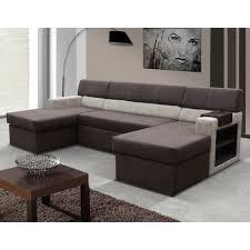 canapé marron canapé d angle panoramique avec lit d appoint beige et marron moderne