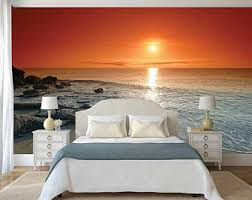 Wall Mural Decals Beach by Sunrise Wall Decal Etsy