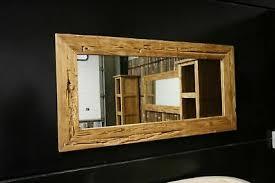 spiegel wandspiegel flur bad teak altholz rahmen massiv