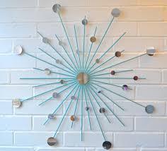 Etsy Bathroom Wall Art by Modern Metal Wall Art Mirror Mod Style Star Starburst Sun Sunburst