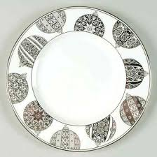 Lenox Christmas Plate Federal Platinum Accent Luncheon Tree Plates Around World