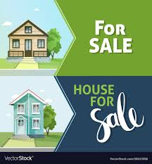 100 Modern Design Houses For Sale Set Of Banners Property Sale Family House Flat