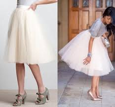 white tutu skirts for women knee length puffy women skirts midi