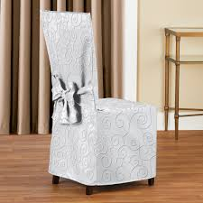 Scroll Patterned Elegant Dining Chair Cover Details About Elegant Kitchen Ding Room Chair Covers Skirt Slipcovers Wedding Decoration Hong Spandex Stretch Washable For Chairs Parsons Office Black 48 Most Of Photographs Oversized Navy Anywhere Slipcover Stylish Look Luxury Light Brown Modern Leather Red Home Decor High Definition As Cozy Shabby Chic For Inspiring Interior Fniture Sure Fit Cotton Duck Walmart Table Height Also Attractive
