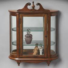 Curved Glass Curio Cabinet by Furniture Glass Curio Cabinets Cheap Espresso Curio Cabinet