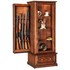 10 Gun Curio Slider Hidden Cabinet Combination