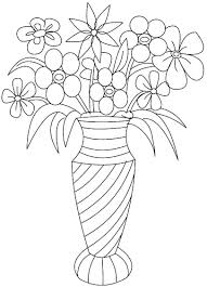 Free Flower On Vase Coloring Pages For Adults Printable