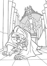 Beauty And The Beast Angry Coloring Pages For Kids Printable Free