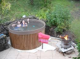 Horse Trough Bathtub Diy by Wood Fire Inside Pipe Spiral Water Rises And Draws In Cooler