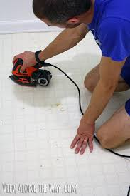Can You Lay Tile Over Linoleum Backing by How To Paint Vinyl Or Linoleum Sheet Flooring