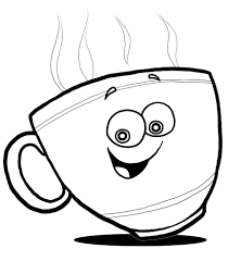 862x985 Cup Clipart Line Drawing