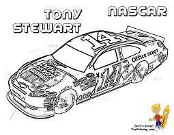 NASCAR Coloring Of Tony Stewart 14 At YesColoring