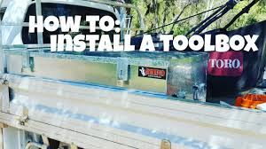 HOW TO: INSTALL A TOOLBOX On Your UTE/TRUCK - YouTube Anyone Install A Tool Box Ford Raptor Forum F150 Forums Toyota Tundra Undcover Swing Case Install Review Youtube Toolbox Photo Image Gallery Swing Google Search Swing Tool Box Pinterest Toolboxes And Bed Step Get A Hot Build Your Own Truck Bed Storage Boxes Idea Install Pick Up For Truck Mounting Rod Holder Marine Hdware Weather Guard Uws Tricks Cargo Management Walmartcom Swingcase Toolbox On 2012 Ram 3500 Boxs Kobalt Buyers Alinum Gull Wing Cross