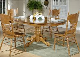 100 Oak Pedestal Table And Chairs Dining Room Set White Corner Hutch For Dining Room Top Dining