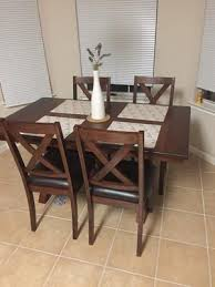 Walmart Dining Room Table by Better Homes And Gardens Maddox Crossing Dining Table Brown