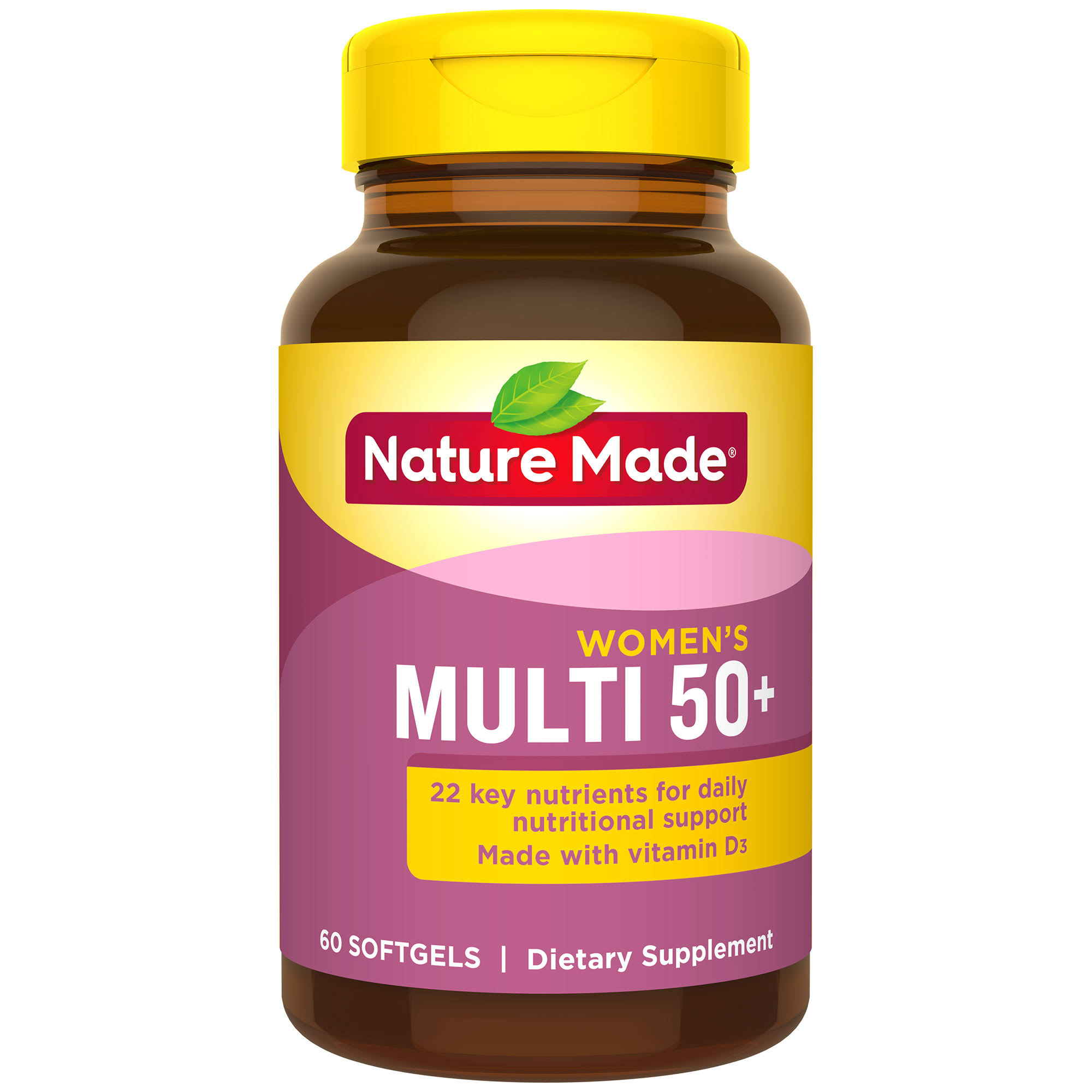 Nature Made Multi For Her 50+ Supplement - 60 Softgels