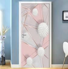 abnehmbare tür aufkleber 3d geometrische marmor nähte wasserdicht wohnzimmer schlafzimmer tür tapete selbst klebe wand abziehbilder