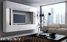 details zu moderne wohnwand future 28 hochglanz tv schrank led beleuchtung möbel wohnzimmer