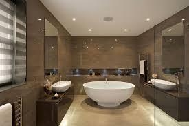 integrierte beleuchtung glänzende wände badezimmer design