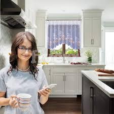 promag modern scheibengardine bistrogardine küchengardine
