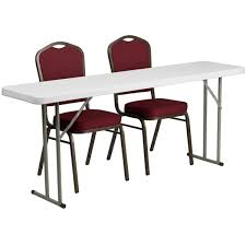 18'' X 72'' Plastic Folding Training Table Set With 2 Crown Back ... Office Tables And Chairs Traing Room Fniture Kobe Table Zeng Stack Black The Place 1 Cubicles Plus Seminar In Singapore Eptecstore Designer Mobile Folding 10w00dx750h Rectangular Modular Conference Smart Buy Rentals Arthur P Ohara Inc 18 X 60 Plastic Set With 2 Regency Seating Woodmetal Newest 84 W Hendrix Chair Finish Cubes2u Teknion 2x5 Contoured W Height Adjustable Richmond Interiors