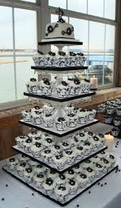 Wedding CakesBlack And White Cakes Square Beautiful Elegant Black